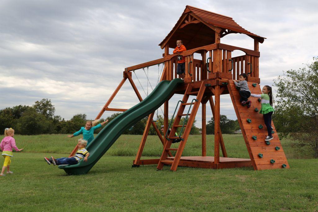 Backyard Fun Factory Swing Sets | fenceworks