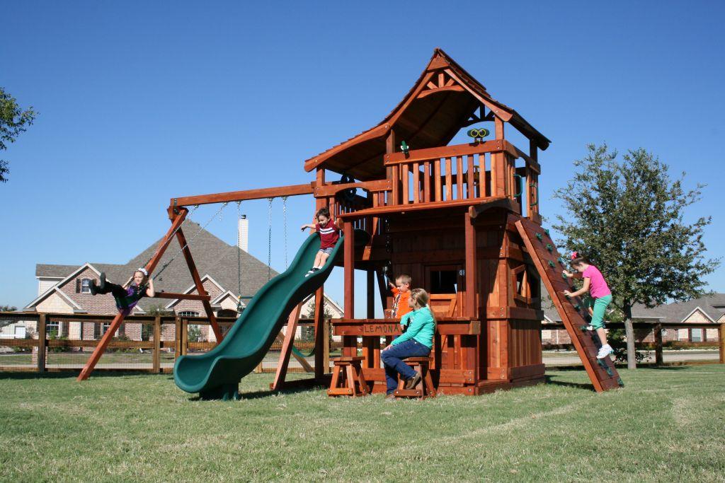 Backyard Fun Factory Swing Sets   fenceworks