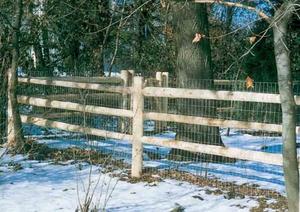 3 Rail Round with Welded Wire