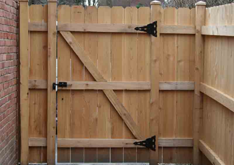 solid dog ear wooden gate