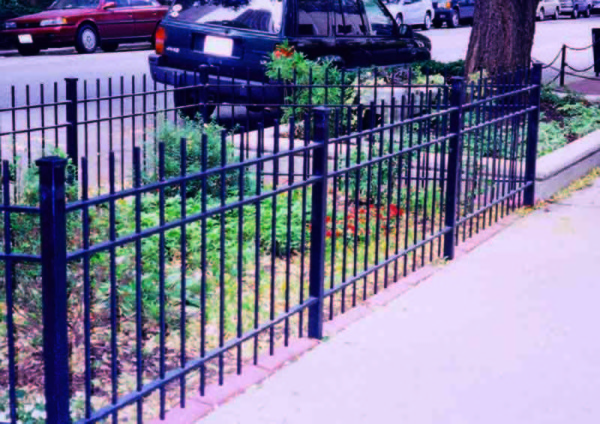 3 Rail Punch Thru Wrought Iron